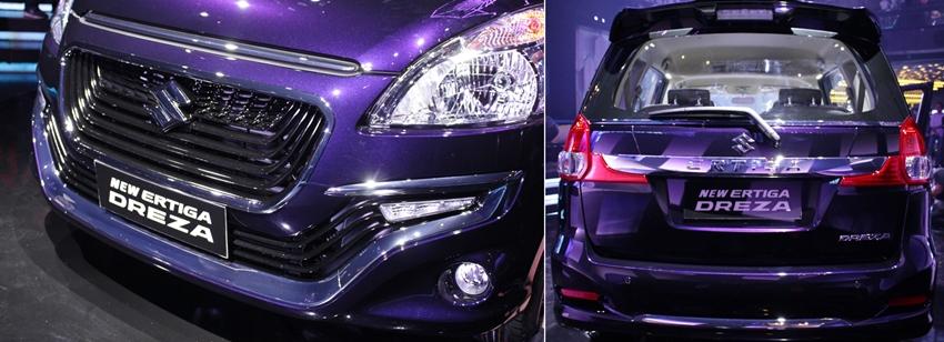 Perbedaan Eksterior Suzuki Ertiga Dreza