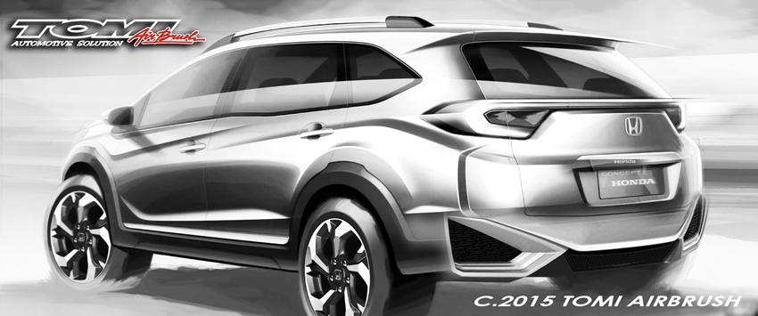 Tampak Belakang Desain Honda BR-V