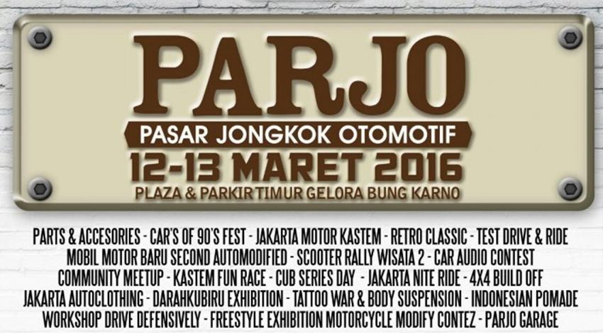 Pasar Jongkok Otomotif (PARJO) 2016 Digelar 12-13 Maret