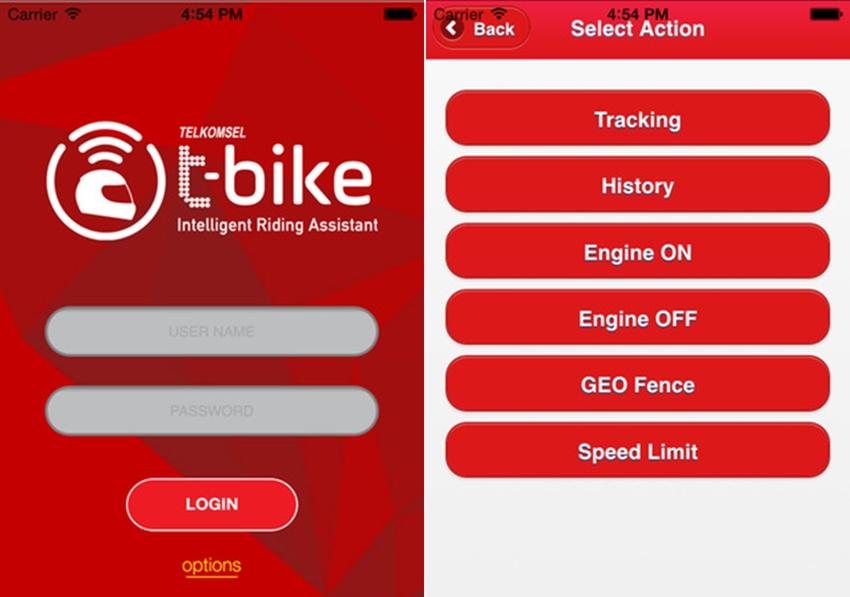 Aplikasi T-Bike di Android