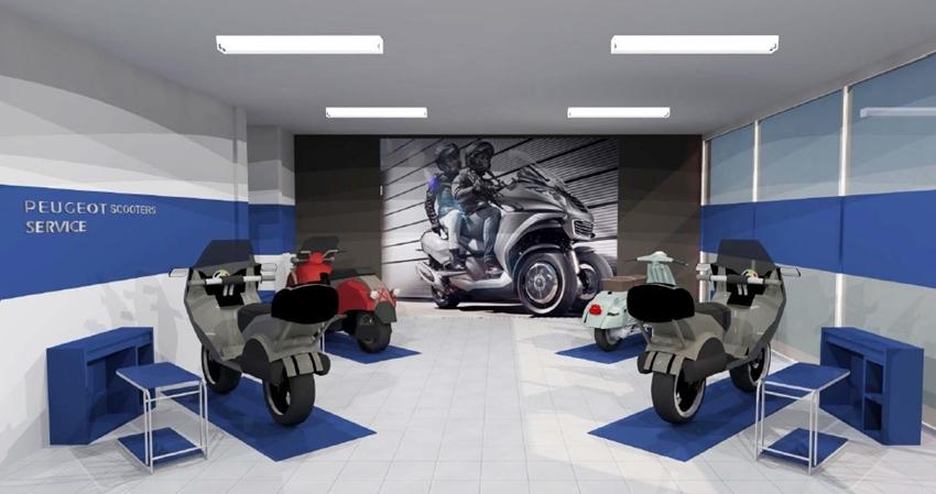 Desain Bengkel Resmi Peugeot Scooters