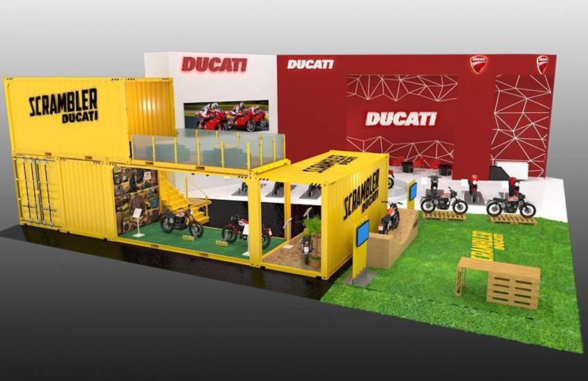 Desain Booth Ducati di IIMS 2016