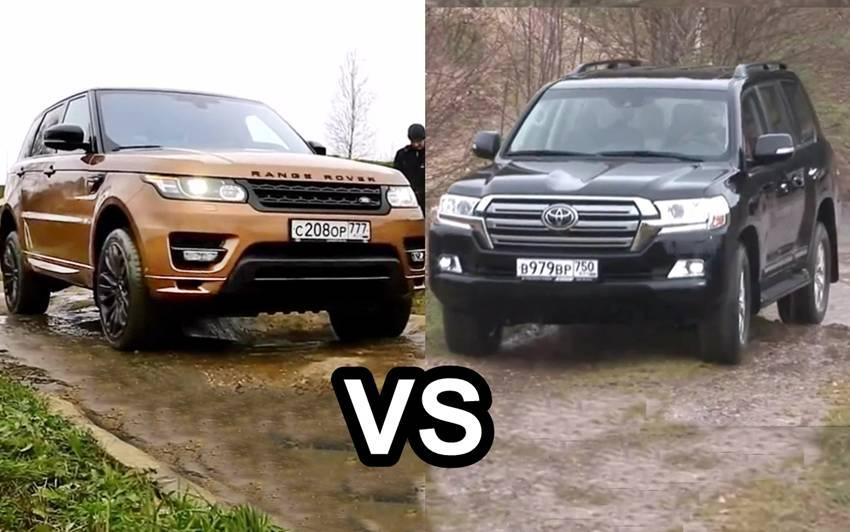 Range Rover Sport Versus Toyota Land Cruiser Autos Id