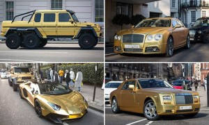 Miliarder Ini Lapis Koleksi Supercar Miliknya dengan Emas Murni