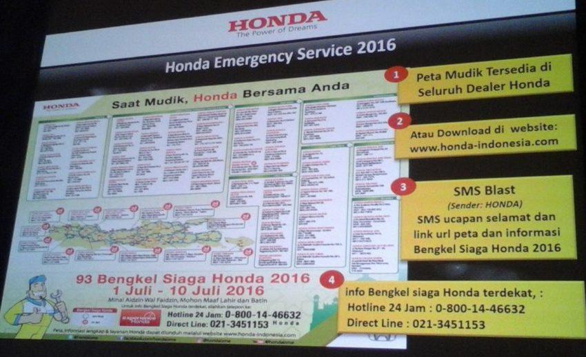 Honda Emergency Service 2016