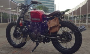 Modifikasi Yamaha Scorpio Scrambler War Machine
