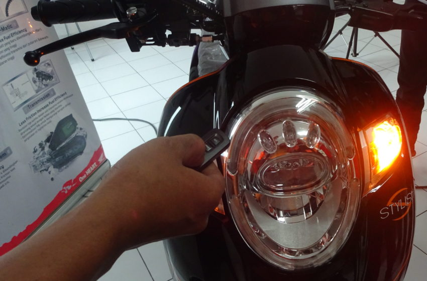 Cara Setting Remote Answer Key Back System All New Honda Scoopy