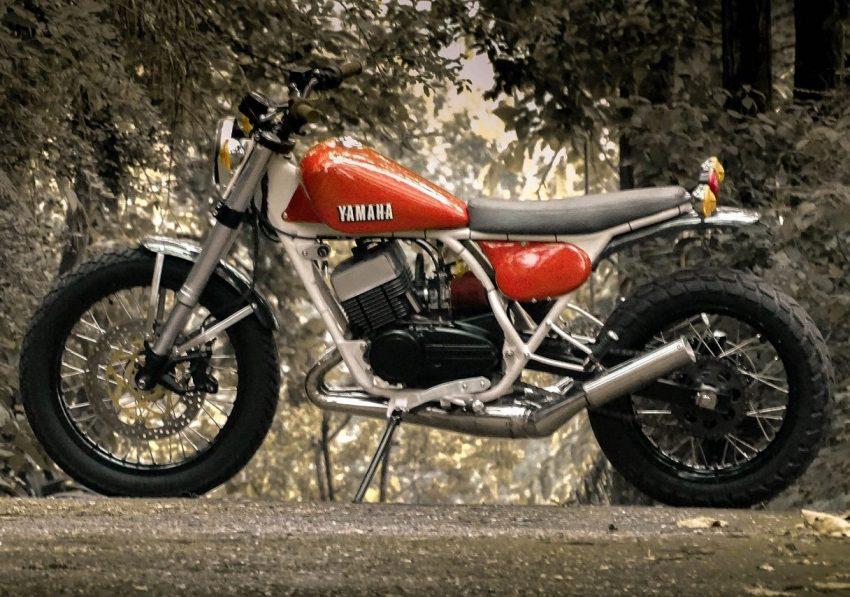 Modifikasi Yamaha RD350 Scrambler