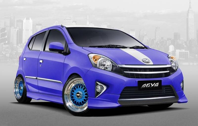 Modifikasi Pelek Toyota Agya Dan Daihatsu Ayla Cukup Pakai 15 Inci