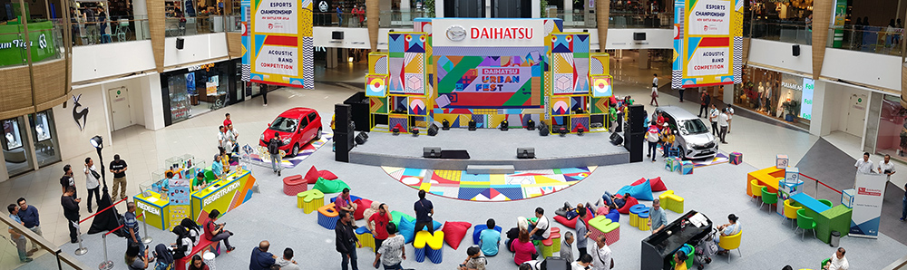 Tampilan panorama booth Daihatsu Urban Fest 2019 di Paskal 23 Hyper Square, Bandung