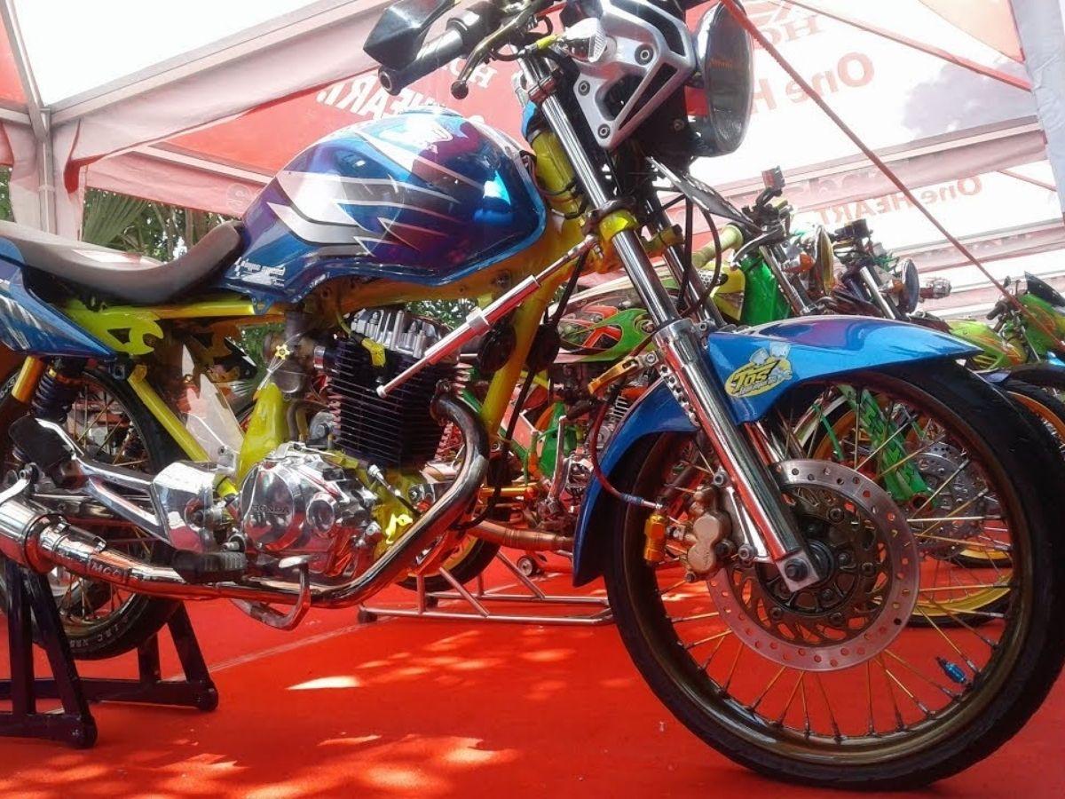 Modifikasi Honda Megapro Primus - Drag Style