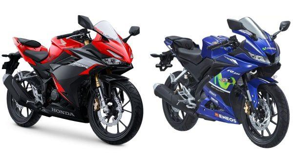 Honda CBR150R dan Yamaha R15 2021